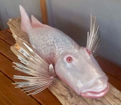 Shery clay fish sculpture