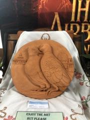 Hazels-clay-bird-relief