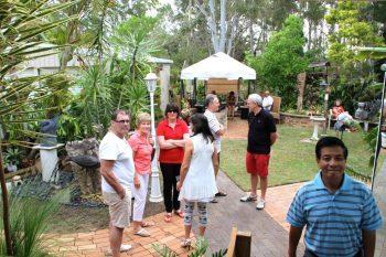 Croud in Garden, Susan etc