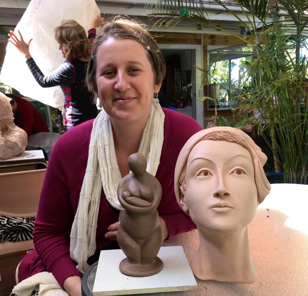 Emma's completed sculptures