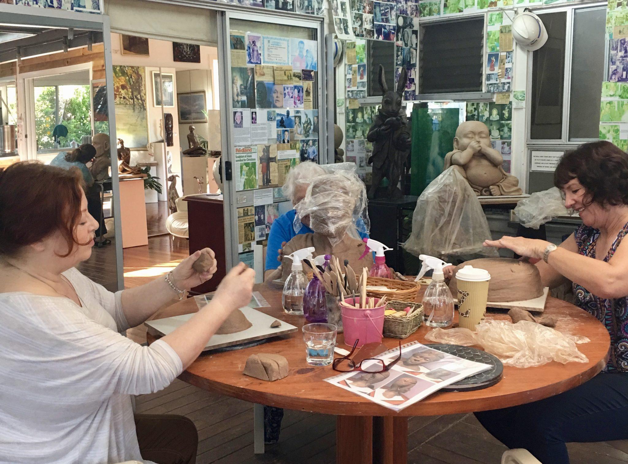 Art sculpture class in Birkdale