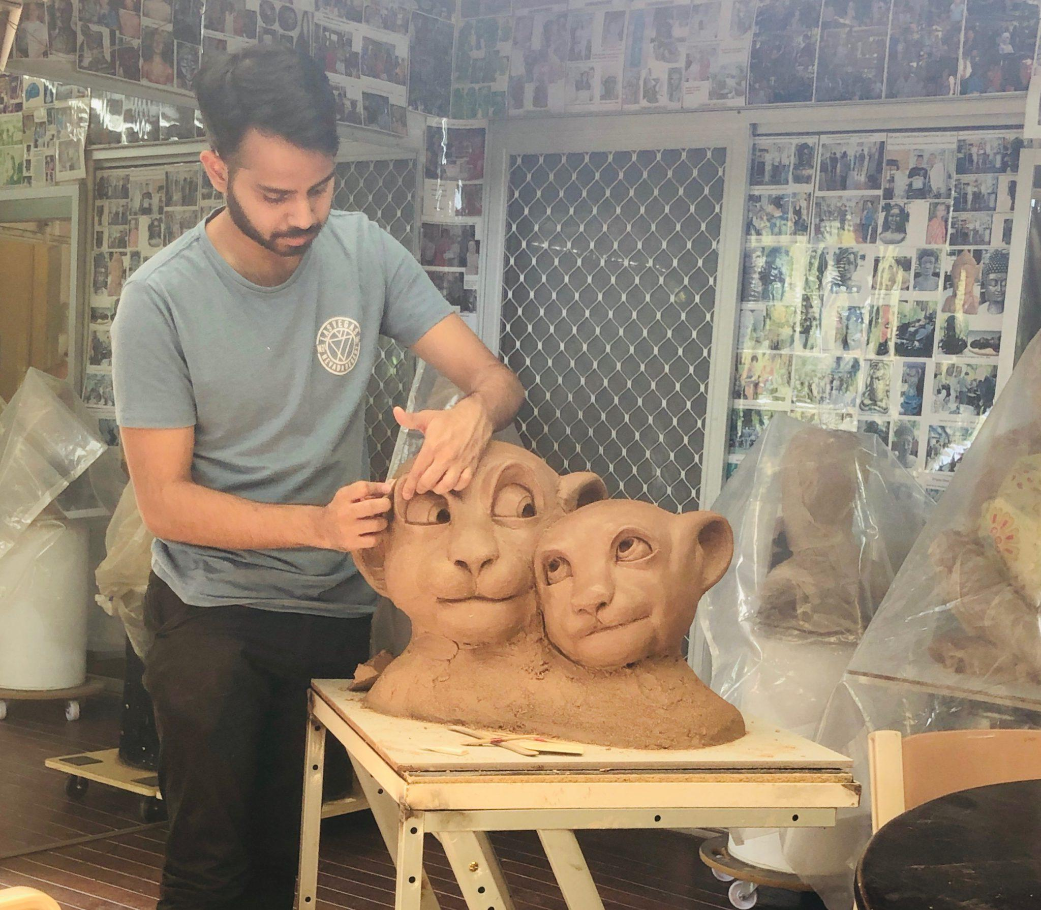 Brother's wedding clay gift in progressing