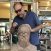Vote for the best eye glasses for this clay sculpture
